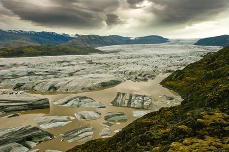 Beautiful view of Vatnajokull glacier,Iceland  Stock Photo
