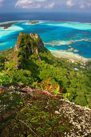 french polynesia: Mountain peak, Maupiti, French Polynesia