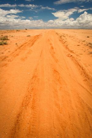 Infinite sandy road, Kenya