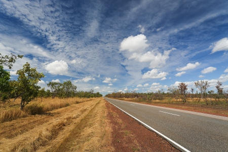 Outback road, Northern Territory, Australia photo