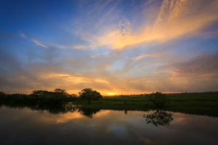 Sunrise at Yellow Waters, Kakadu National Park, Australia photo