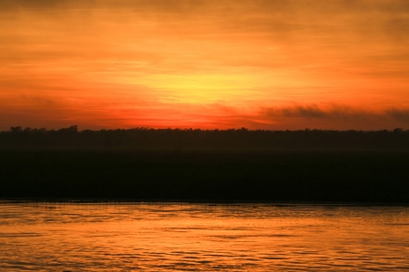Sunrise at Yellow Waters, Kakadu National Park, Australia photo