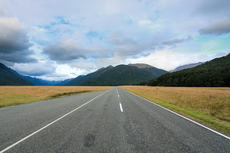 South Island road, New Zealand