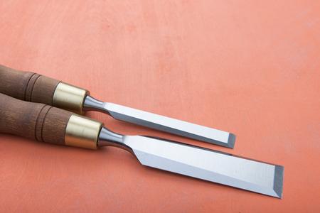 professional wood chisels 스톡 콘텐츠