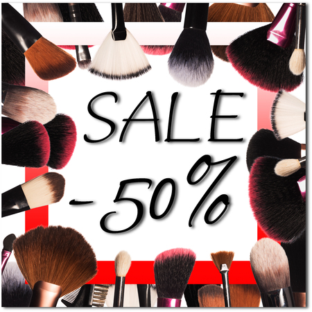 sale with professional makepu tools Standard-Bild - 97360291