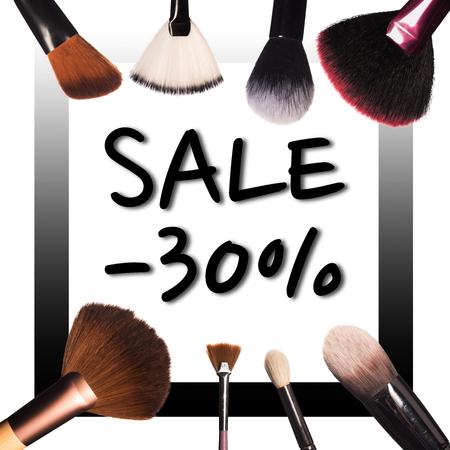 sale with professional makepu tools Standard-Bild - 97354583