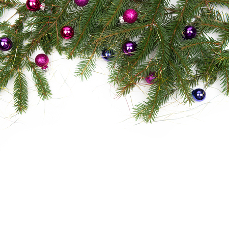 Christmas background with hearts and place for text