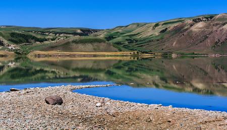 Xinjiang reservoir scenery Imagens