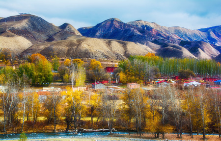Autumn scenery of Xinjiang Фото со стока - 83472395