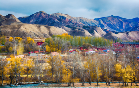 Autumn scenery of Xinjiang