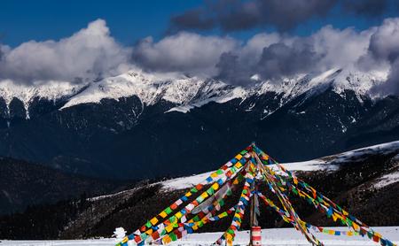 The gore temple mountain scenery in Ganzi, Sichuan