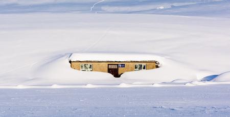 Xinjiang  washroom in the snow Imagens