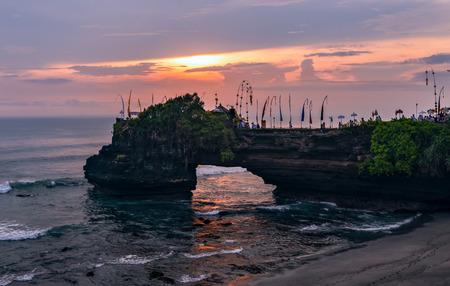 Bali Tanah Lot scenery in Indonesia Imagens