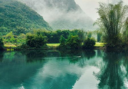 Guilin Yangshuo Yulong River scenery
