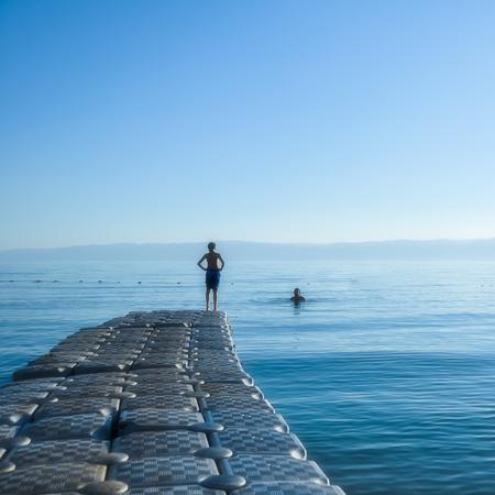 Dead Sea scenery in Jordan Imagens
