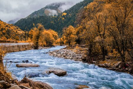 Autumn scenery of western Sichuan Plateau Imagens