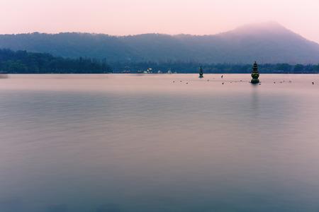 West Lake scenery in winter