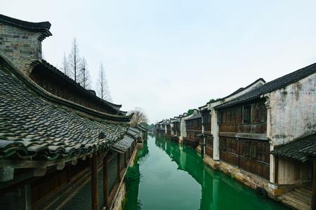 Oude stad van Wuzhen Stockfoto - 94190396