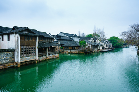 Ancient town scenery Stock Photo