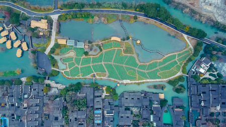 Aerial photograph Wuzhen city