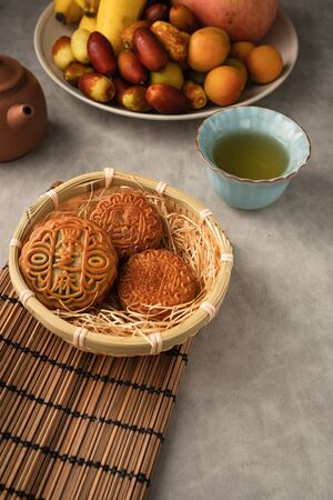 Chinese traditional festival Mid-Autumn Festival -delicious mooncakes Stock Photo