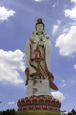 bodhisattva: Guanyin is an East Asian deity of mercy, and a bodhisattva associated with compassion as venerated by Mahayana Buddhists. The name Guanyin is short for Guanshiyin, which means Perceiving the Sounds or Cries of the World. She is also sometimes referred t
