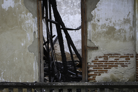 however: The fire left a charcoal black look and feel exhausted everything. However, the external balances mortar. Stock Photo