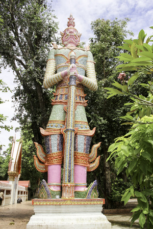 protectors: thao wessuwan buddhist statue, protectors of the dhamma,guardians of the universe