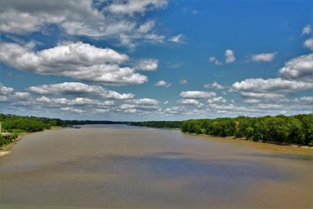 Missouri River in Saint Charles Missouri Stock Photo
