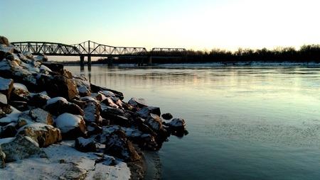 Missouri River, St. Charles, MO Stock Photo