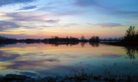 Mississippi River West Alton Missouri Stock Photo