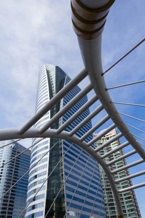 Photo of Skywalk at bangkok sathorn Stock Photo - 17025013