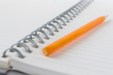 Photo of a pencil and a book Stock Photo - 17201102