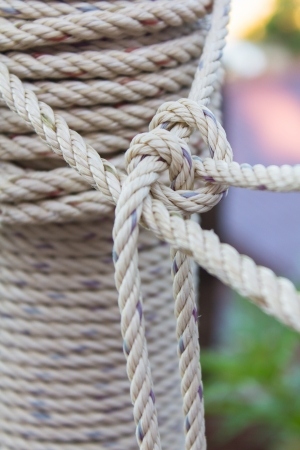 border line: Photo of closeup roll of rope Stock Photo