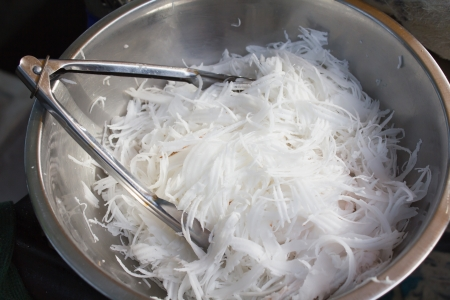 photo of coconut shred of cooking photo