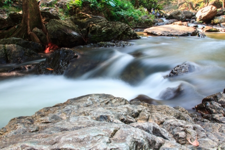 Photo of a small stream  with long exposure photo