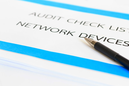 concept of Audit Check list of Network Devices with pencil photo