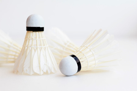 Photo of Badminton shuttlecock isolated on white background photo
