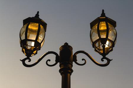 lamp post: Photo of Lamp Post on Street Road Stock Photo