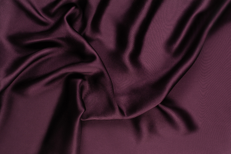 Abstract background with silk photographed from above, top view. Stock Photo