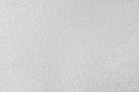 styrene: White  texture closeup background. Product photograph taken from above, top view.
