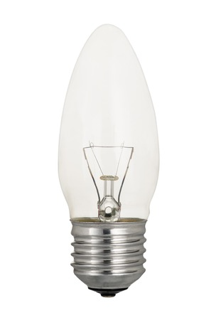 Stock Photo   Traditional, Classic Tungsten Light Bulb Isolated On White  Background.
