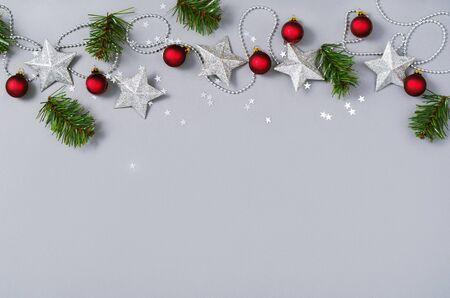 Kerst vakantie achtergrond. Xmas achtergrond bovenaanzicht. Stockfoto