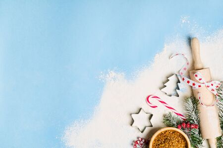 Christmas and New Year holiday background. Xmas background top view. 스톡 콘텐츠