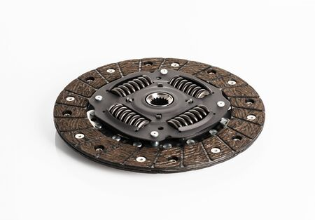 Car or automotive clutch on white background