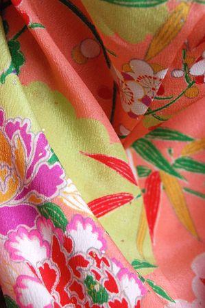 Japanese Kimono Fabric Stok Fotoğraf