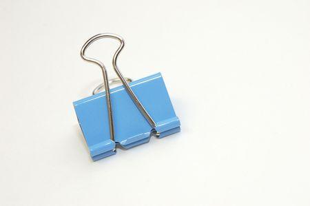 Blue Binder Clip Stok Fotoğraf