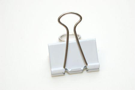 White Binder Clip