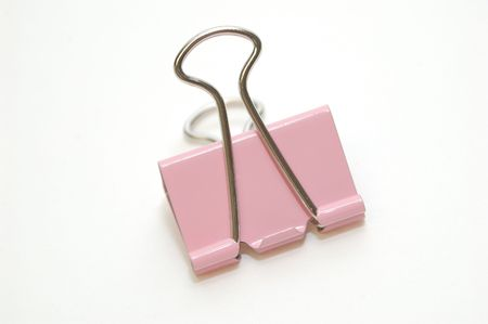 Pink Binder Clip