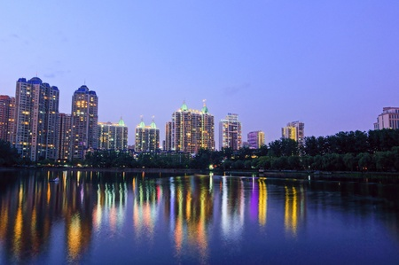wuhan: wuhan north lake night Stock Photo
